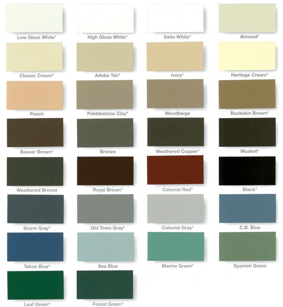 gutters color chart